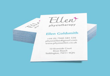 Ellen Physiotherapy business cards